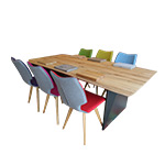 Avante Dining Table & 6 Chairs Detail Page