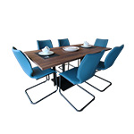 Gwinner Blogg Dining Table & Six Lunor Chairs Detail Page