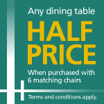 Half price dining offer Detail Page