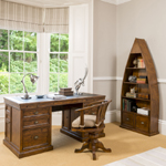 Brunel desk, swivel chair and dinghy bookcase