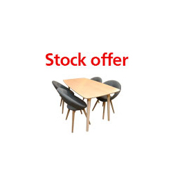 Norde Dining Table & 4 Chairs