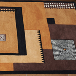 Nepalese rug Art Deco inspired