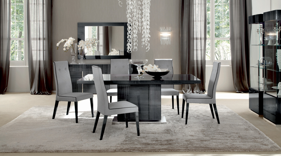 10 paint color ideas for beautiful dining room interior - Adorable iconic furniture design adapts black and white color ...