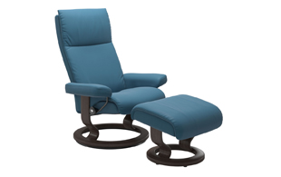 Stressless Aura with Classic Base Chair & Stool detail page