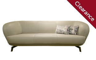 Leloux Flint Small Leather Sofa detail page