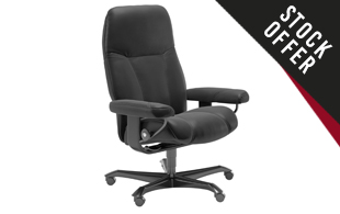 *STOCK OFFER* Stressless Consul Office Chair in Batick Leather detail page