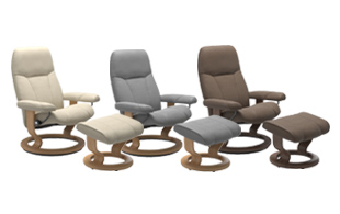 *STOCK OFFER* Stressless Consul Classic Base Chair & Stool detail page