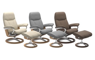 *STOCK OFFER* Stressless Consul Signature Base Chair & Stool detail page