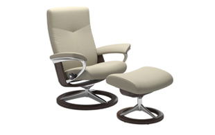 Stressless Dover with Signature Base Chair & Stool detail page