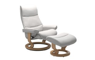 Stressless View with Classic Base Chair & Stool detail page
