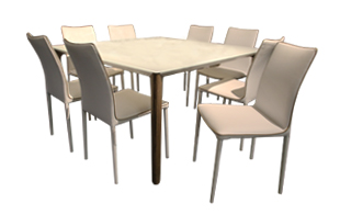 Bontempi Versus Dining Table & 8 chairs detail page